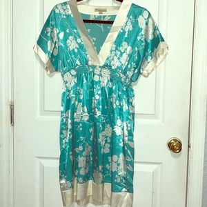 Silk floral tunic